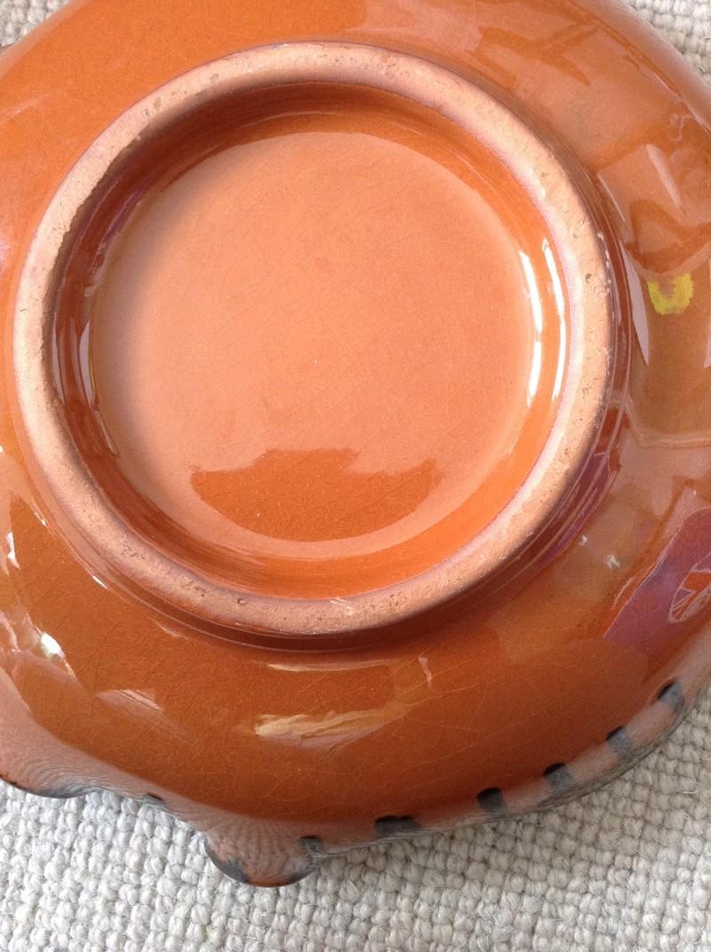 Slipware bowl / dish - Ceramy, Catalan, Spain Image55