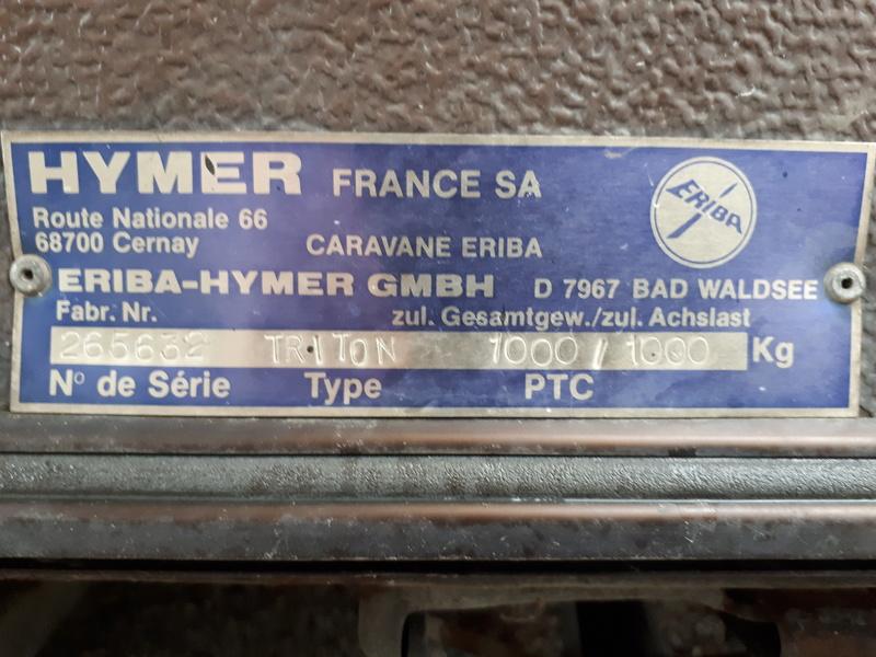 Plaque constructeur Eriba / Hymer [Post Photos] - Page 15 20180310