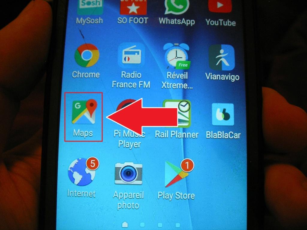 Manip : télécharger les cartes et le parcours sur votre téléphone 111