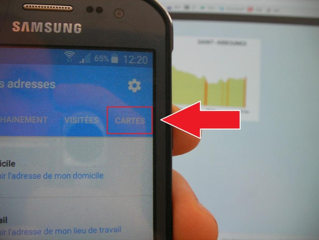 Manip : télécharger les cartes et le parcours sur votre téléphone 411