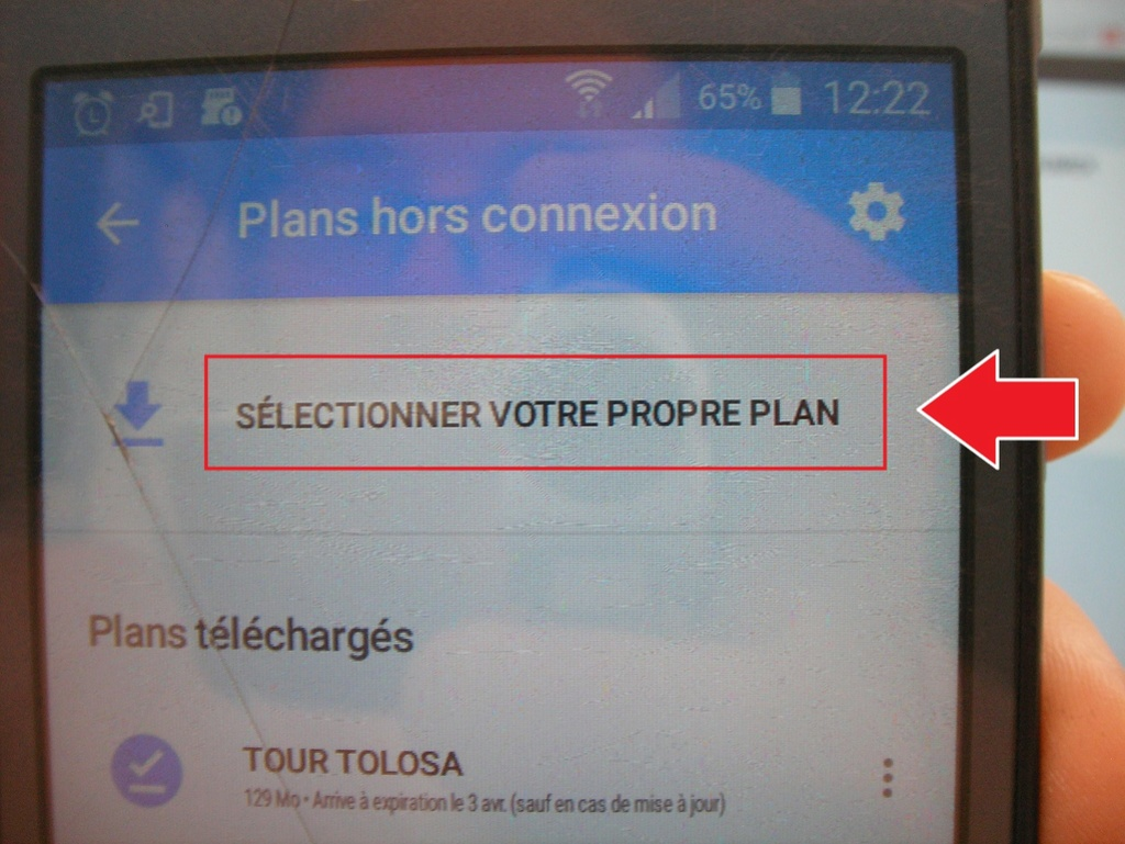 Manip : télécharger les cartes et le parcours sur votre téléphone 811