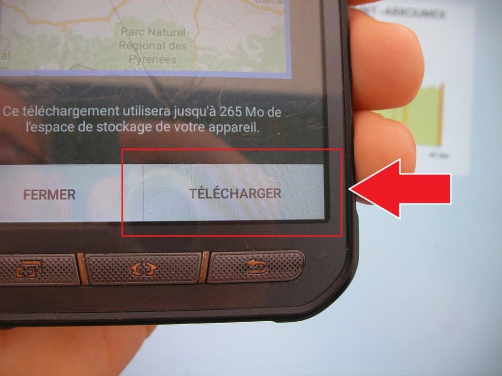Manip : télécharger les cartes et le parcours sur votre téléphone 911