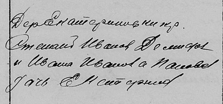 Мартыхины, д.Ивановка-Селезневка приход села Черемухово 11210