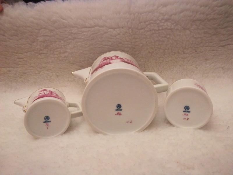 Dating Hochst porcelain service tea  Vkqopv11