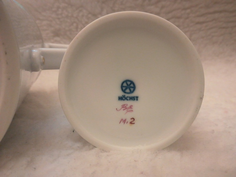 Dating Hochst porcelain service tea  Zgcrrq11