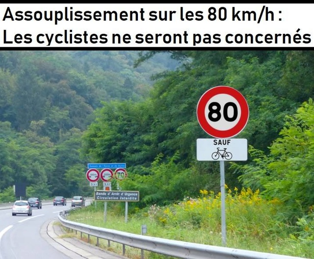 Assouplissement de la loi sur la limitation de vitesse à 80km/h 31164110
