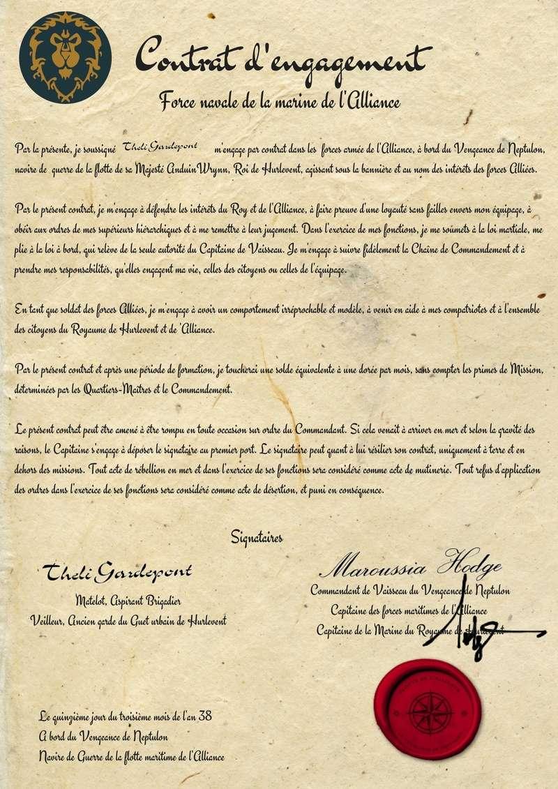 Contrat d'engagement de Théli Gardepont Savonn17