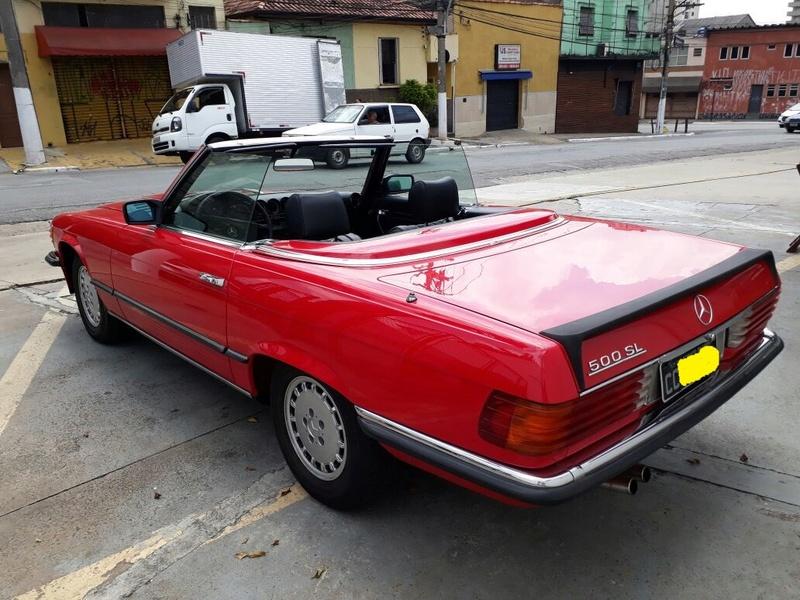 R107 - 500 SL - 1981 (v8) - VERMELHA - R$ 158.000 - VENDIDO Latera10