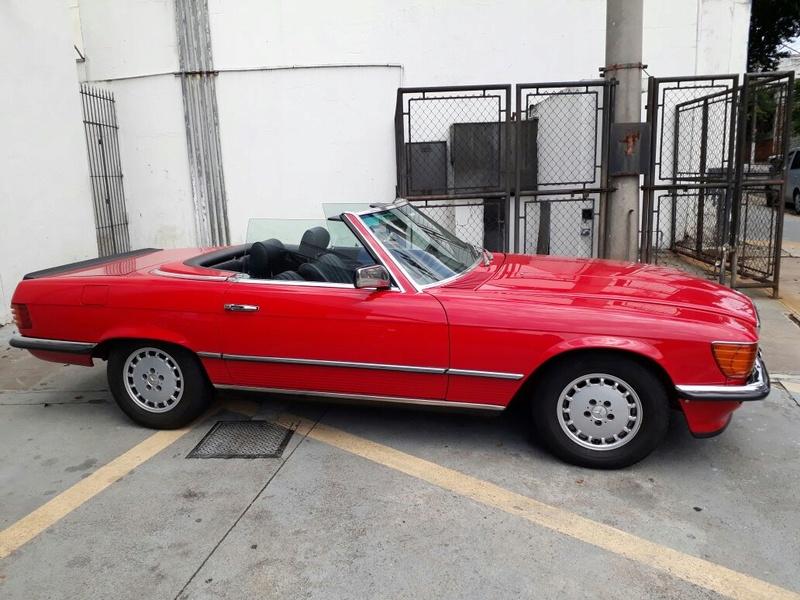 R107 - 500 SL - 1981 (v8) - VERMELHA - R$ 158.000 - VENDIDO Latera11