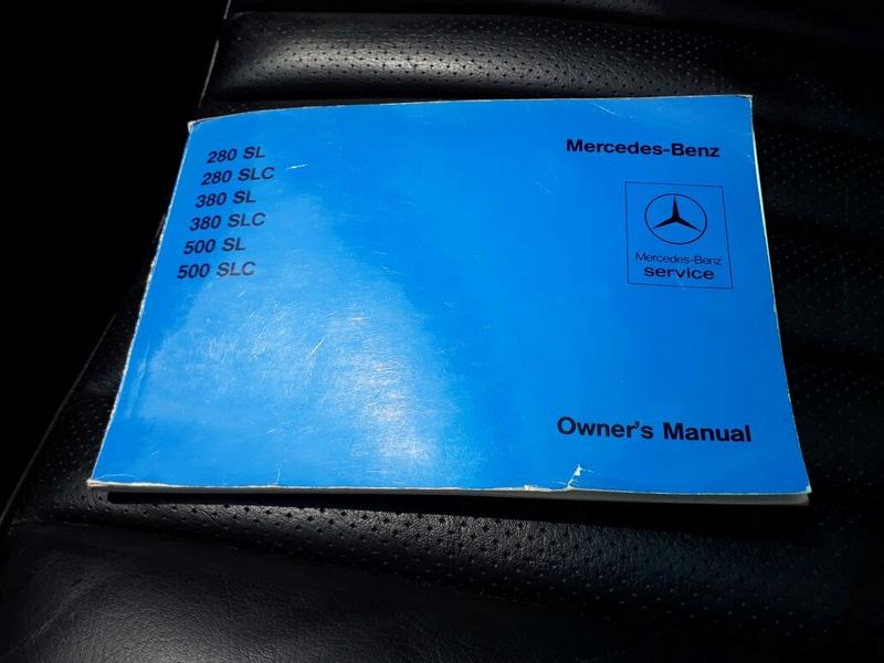 R107 - 500 SL - 1981 (v8) - VERMELHA - R$ 158.000 - VENDIDO Manual10