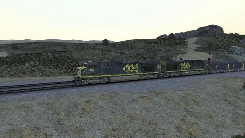 Iniciando operação em Cajon Pass Screen27