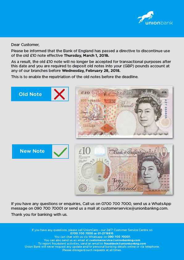 Old 10 Pounds Note To Be Discontinued As Directed By Bank Of England (PHOTO) Discon10