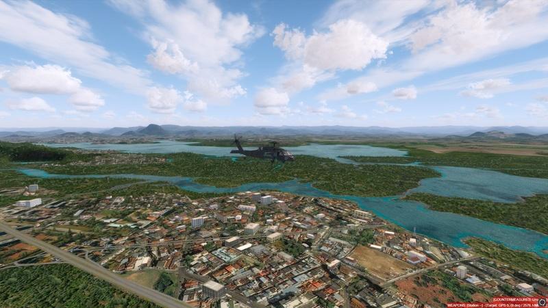 Horizonte e montanhas azulado P3DV4.2 Sem_ty13