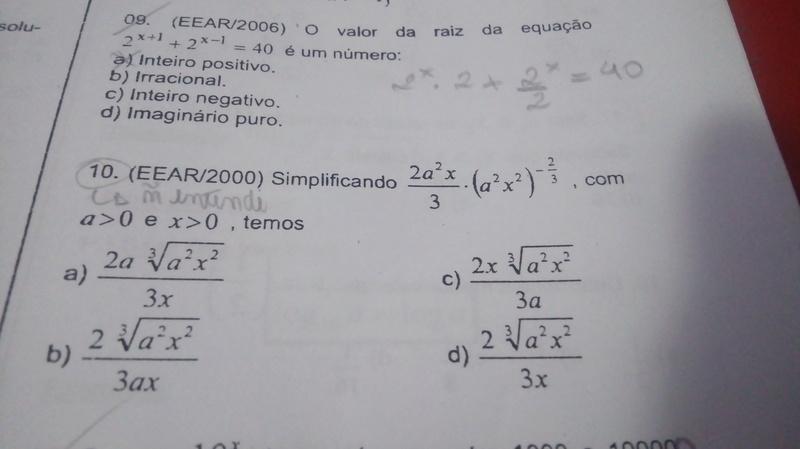Equação Exponencial  15205410