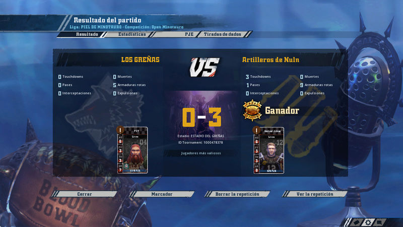 Open Minotauro Primavera 2018 - Retos e Informes de partidos 3-010