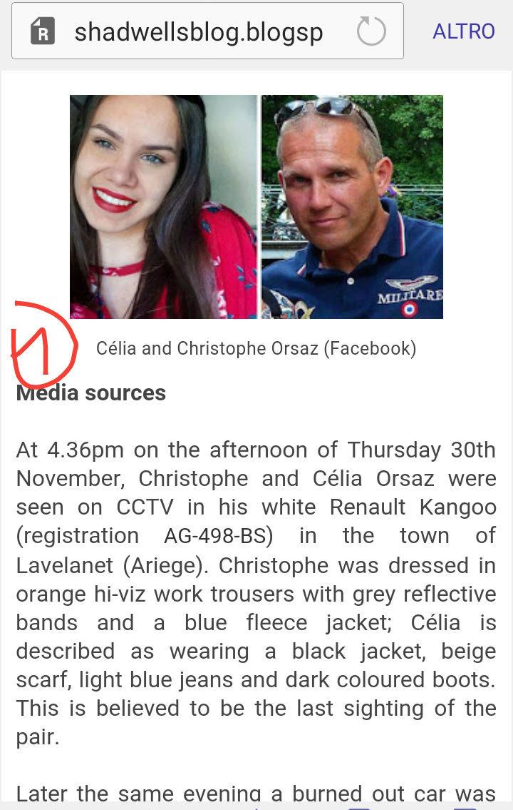 Disparition de Christophe Orsaz et de sa fille Célia - 30 Nov 2017 20180521