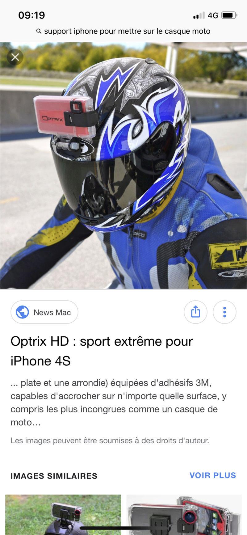 Attache iphone X casque moto F6495610