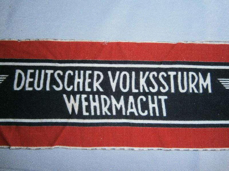 Identification brassard du Volkssturm P4130414