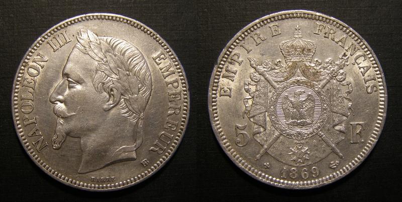 5 FRANCOS NAPOLEON III 1869 5_fr-n10