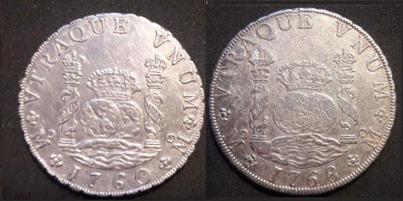 Columnarios de Carlos III - auténtico vs falso Carlos12