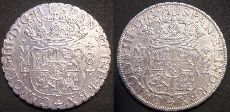 Columnarios de Carlos III - auténtico vs falso Carlos13
