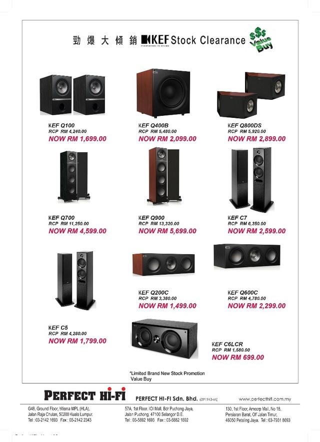 KEF Speaker Clearance Promotion Whatsa18