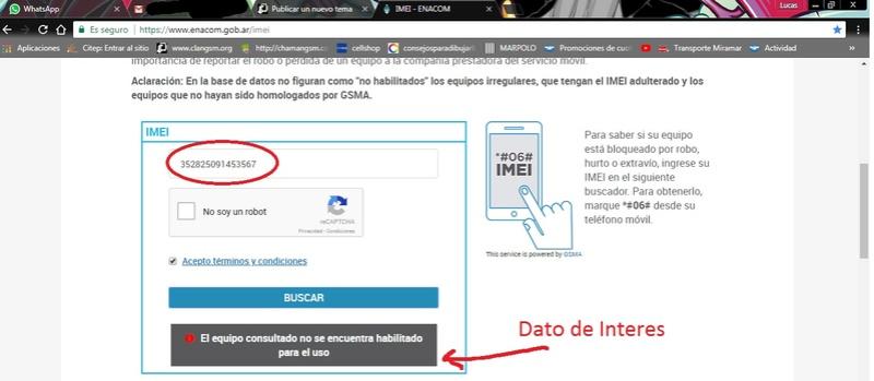 Verificar IMEI online 110