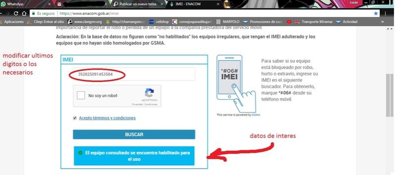 Verificar IMEI online 210