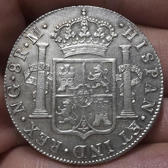 8 reales Fernando VII 1821 Guatemala 20180610