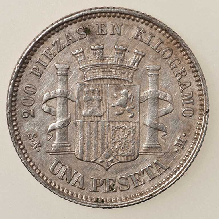 1 peseta 1869. Gobierno Provisional  _pas4315