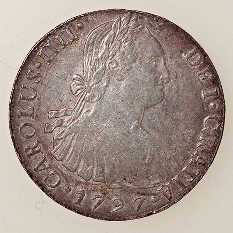 8 reales 1797. Carlos IV. Lima _pas4317