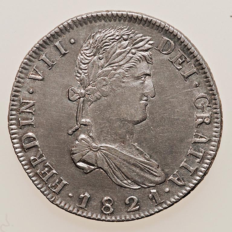 8 reales 1822. Fernando VII. Zacatecas _pas4324
