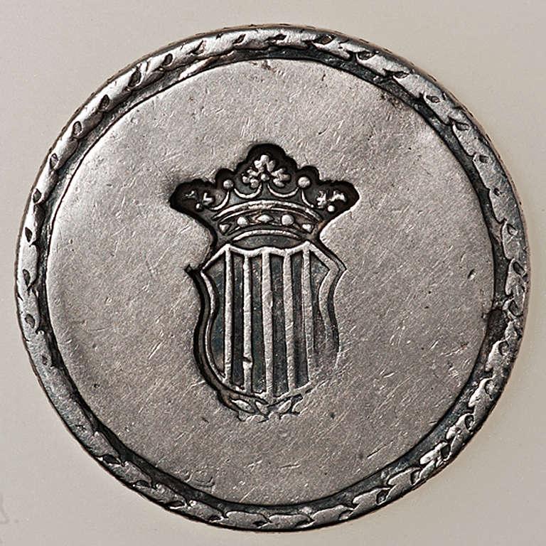 5 pesetas 1809. Fernando VII. Tarragona. Dedicada a Gobierno Provisional. _pas4339