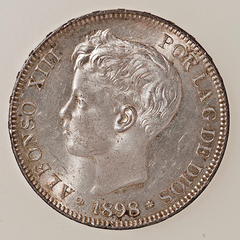 5 pesetas 1898. Alfonso XIII. SGV _pas4340