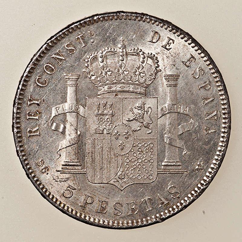5 pesetas 1898. Alfonso XIII. SGV _pas4341