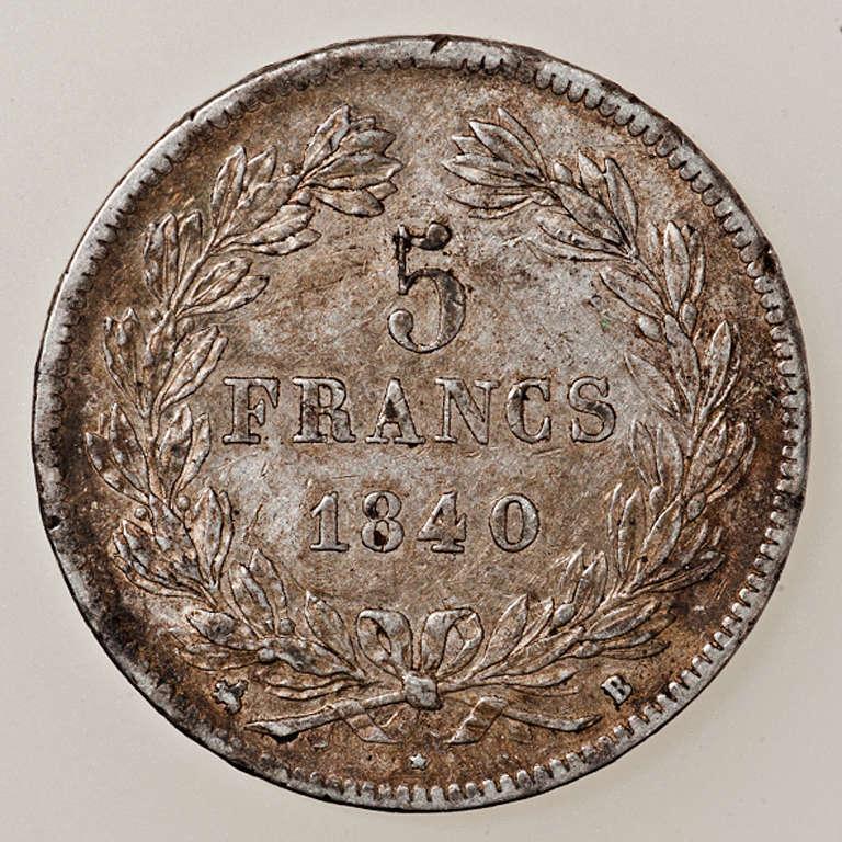 5 francos Louis Philippe I 1840 Rouen _pas4416