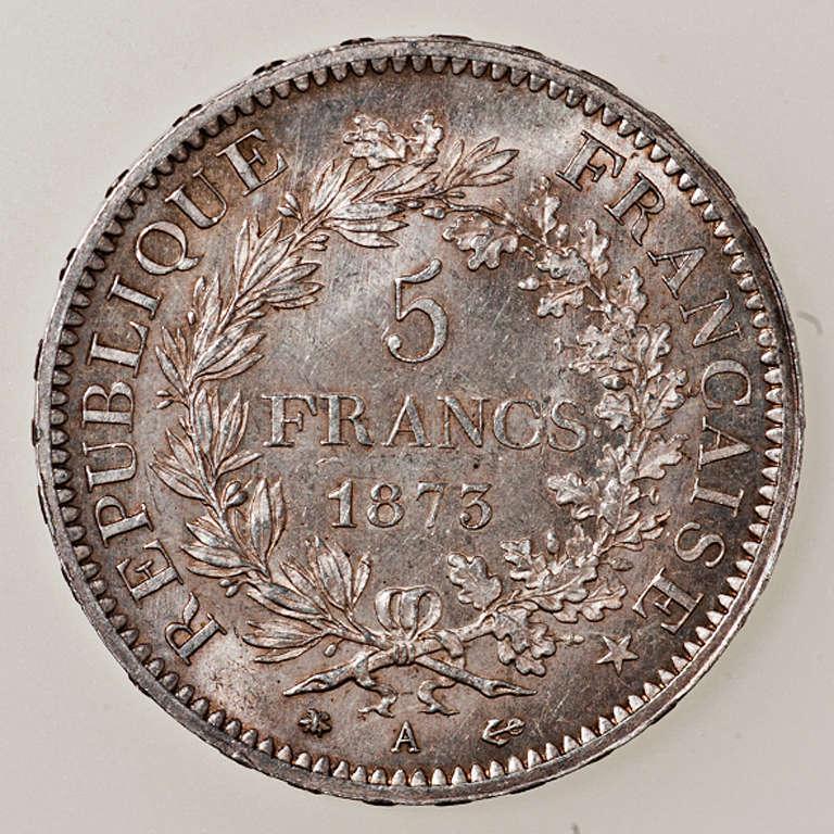 5 francos IIIème République 1873 A (Paris) _pas4421