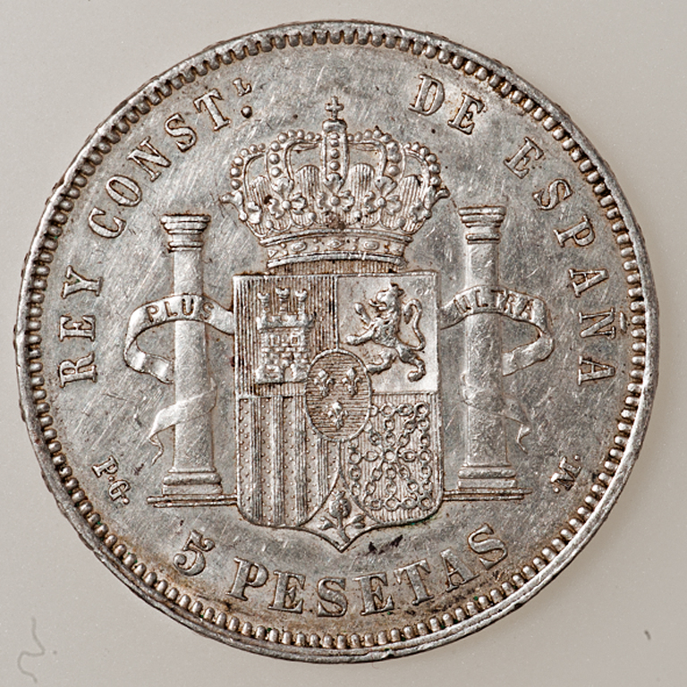 5 pesetas 1890. Alfonso XIII. P.G. M. _pas4427
