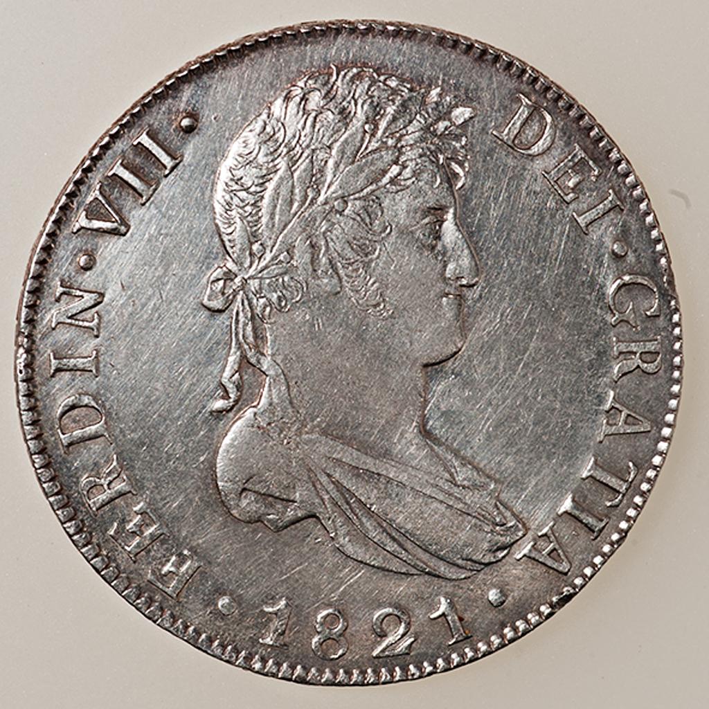 8 reales Fernando VII 1821 Guatemala _pas4429