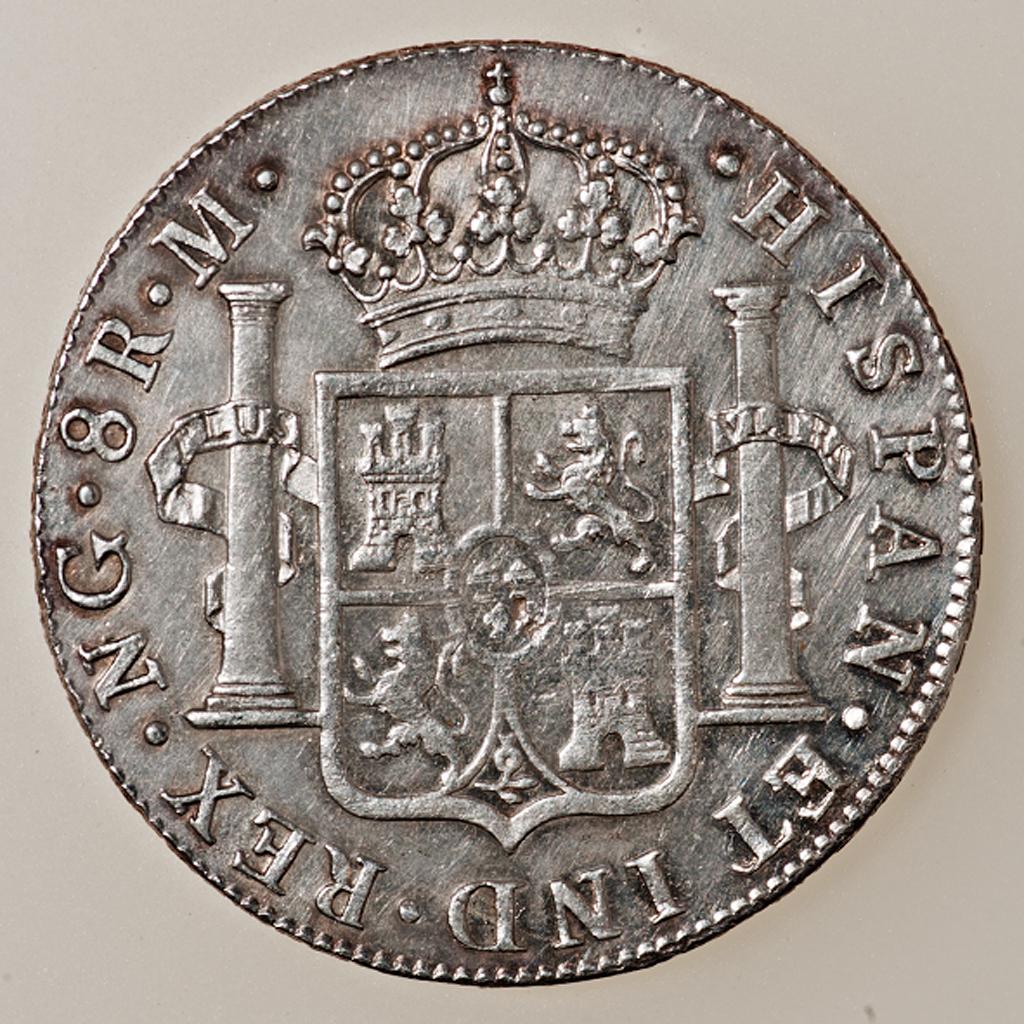 8 reales Fernando VII 1821 Guatemala _pas4430
