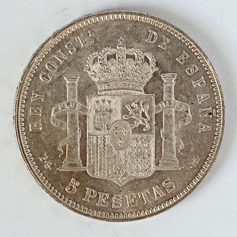 5 pesetas 1891. Alfonso XIII PGM Alfxii11
