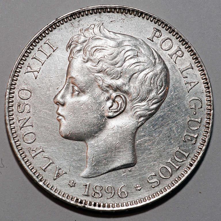 5 pesetas 1896. Alfonso XIII  Alfxii12