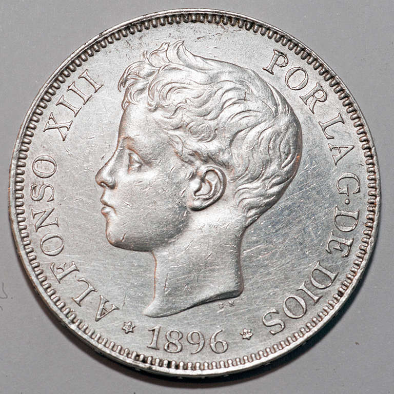 5 pesetas 1896. Alfonso XIII  Alfxii17
