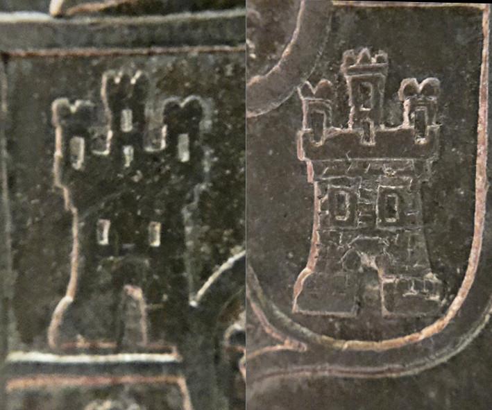 8 reales 1822. Fernando VII. Zacatecas - Página 2 Castil10