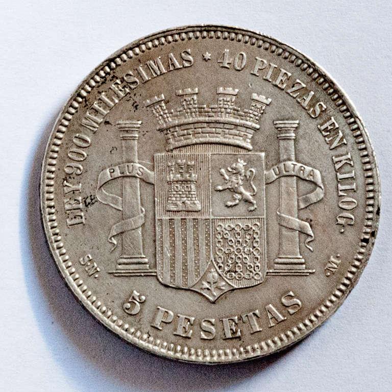5 pesetas 1870. Gobierno Provisional  Dgpr10