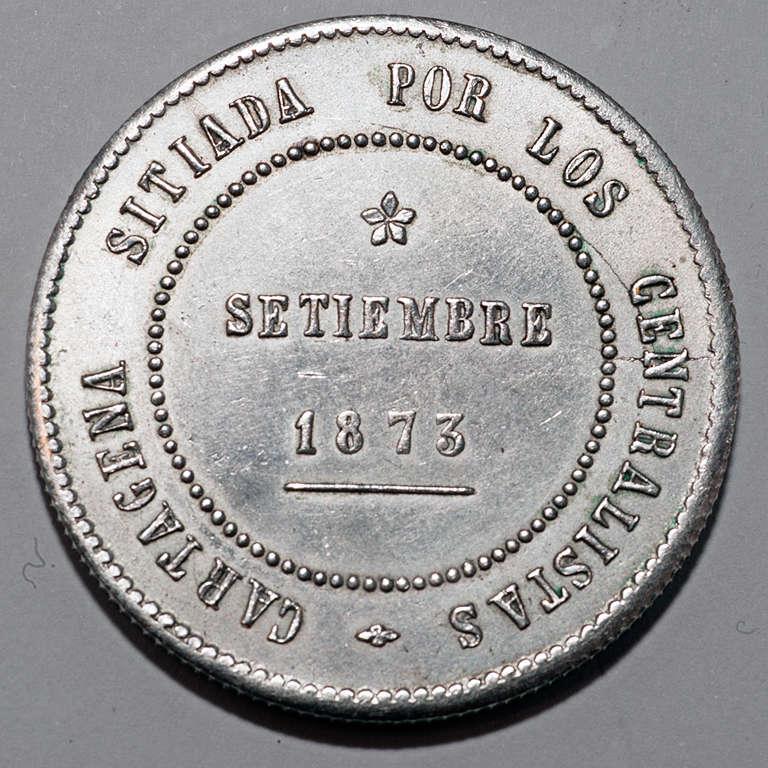 5 pesetas 1873. Revolución Cantonal de Cartagena  Rca10
