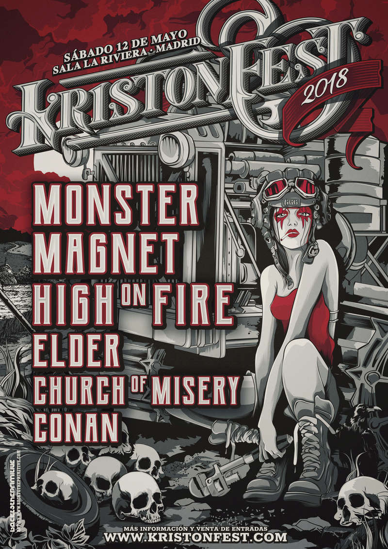KRISTONFEST (12 Mayo 2018): MONSTER MAGNET + HIGH ON FIRE + ELDER + CHURCH OF MISERY + CONAN en Madrid Kristo10
