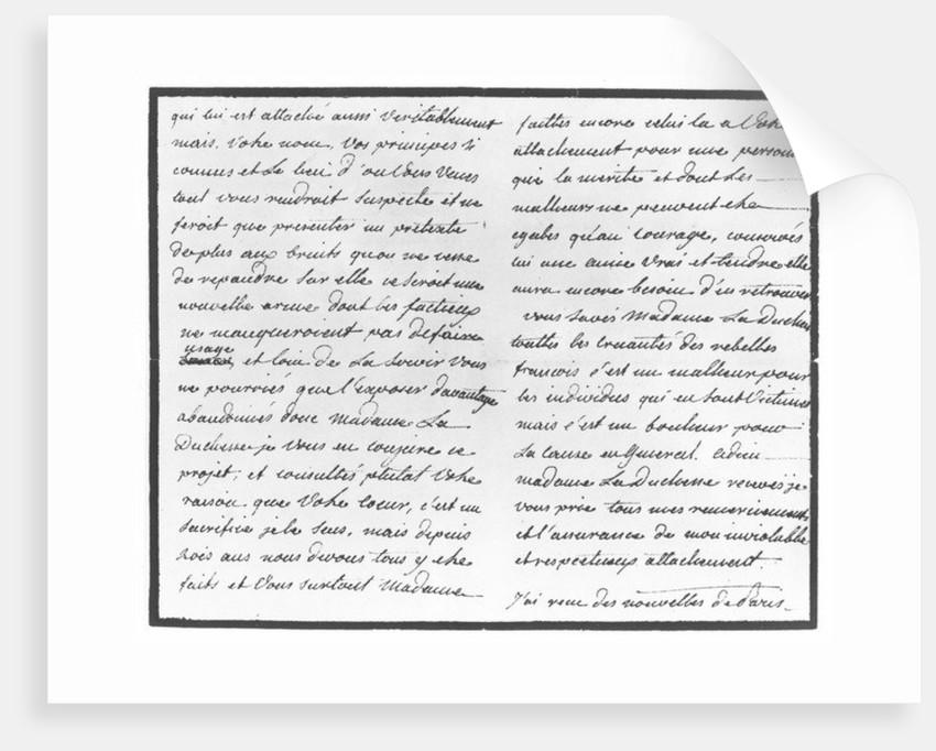 Ecrits du comte Hans Axel von Fersen Mus-fa11