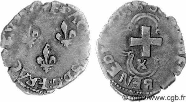 Denier tournois de Luis XI (1461-1483). Tourno10