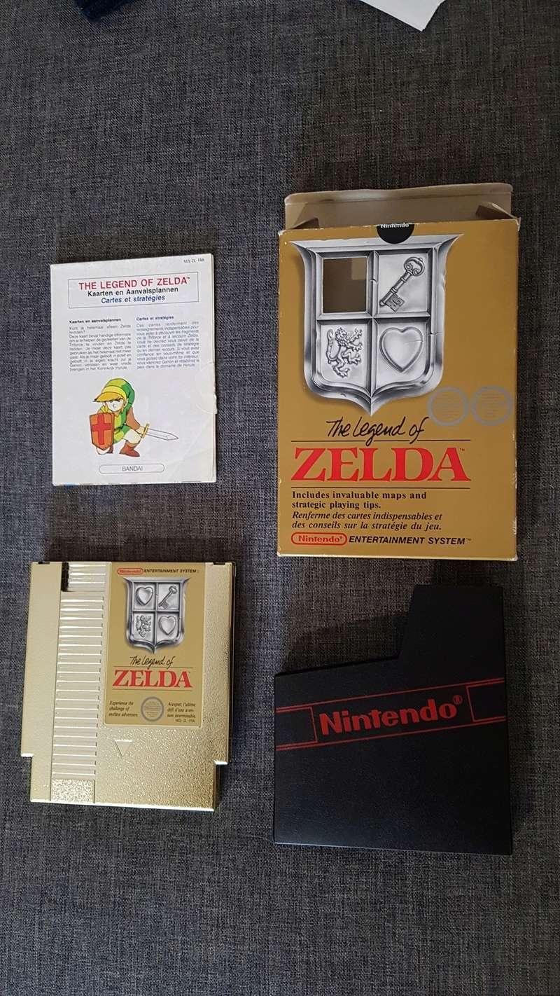 Différentes versions ZELDA 1 NES 20180311